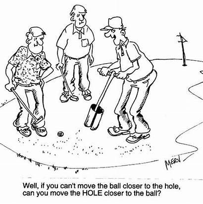 Golf Cartoons Cartoon Funny Golfer Tee Hole