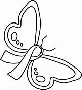 Ribbon Pink Drawing Coloring Pages Getdrawings sketch template