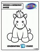 Coloring Webkinz Pages Pet Secret Code Template Horse Contest Clipart Templates Clip Library Popular sketch template