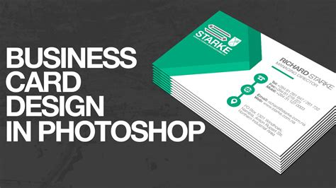 How To Design A Business Card In Photoshop Youtube
