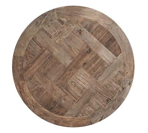 Parquet 46 square reclaimed wood coffee table pottery barn console 54 rectangular canada iron barkeaterlake com wisteria cool tables russian oak large elm. Parquet Reclaimed Wood Round Coffee Table   Pottery Barn