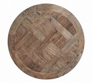 Parquet reclaimed wood round coffee table pottery barn for Parquet reclaimed wood round coffee table