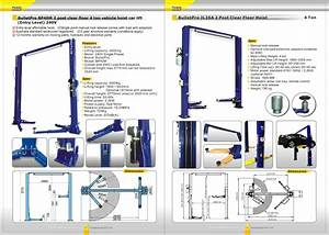 Bulletpro Bp40m 2 Post Clear Floor 4 Ton Vehicle Hoist Car Lift  Entry Level  240v