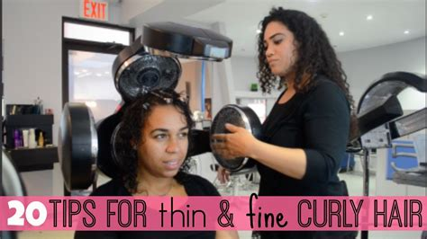 20 Tips For Thin & Fine Curly Hair