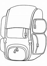 Backpack Coloring Pages Useful Tocolor Bag Drawing Printable Backpacks Getcolorings sketch template