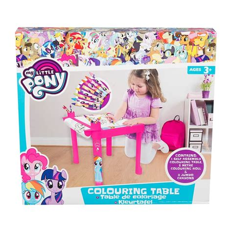 my little pony table my little pony colouring table tj hughes
