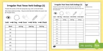 year 2 spelling practice irregular past tenses 1 homework