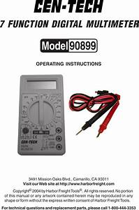 90899 Manual For The 7 Function Digital Multimeter