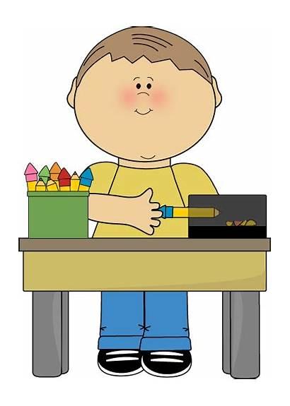 Clip Classroom Pencil Clipart Monitor Cleaning Helper
