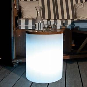 beleuchteter design hocker tisch inkl esl With beleuchteter tisch