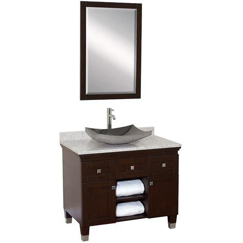 36 vanity with sink 36 quot premiere single vessel sink vanity espresso