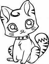 Cat Coloring Pages Preschoolers Cute Cats Printable Getcolorings Colorings Wallpapers sketch template