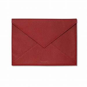 pineider city chic leather envelope shaped document case With large document envelopes