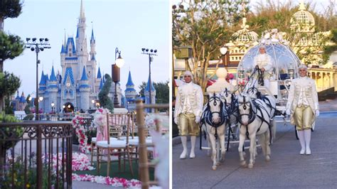 dream wedding  cinderellas castle  disney world