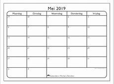 Kalenders mei 2019 MZ Michel Zbinden nl