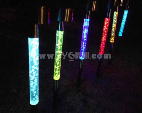 outdoor solar power color changing led lawn garden