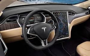 Tesla Model S Dashboard Interior Desktop Wallpaper