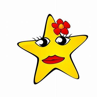 Star Clipart Night Cartoon Starry Clip Drawing