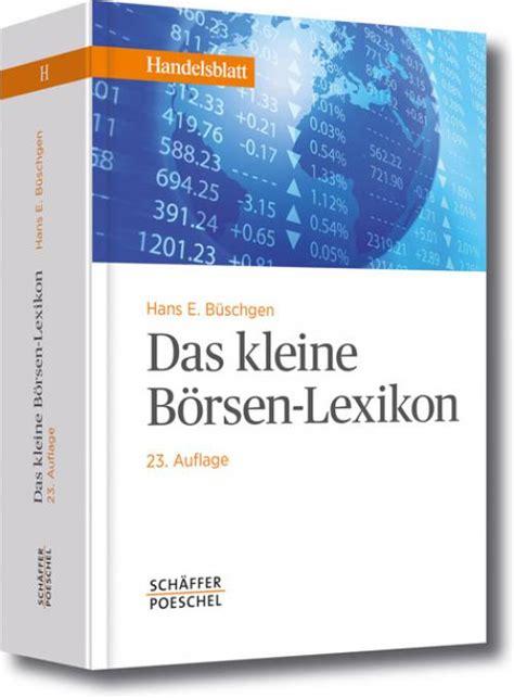 Kleines Lexikon Der Baufinanzierung by Content Select Das Kleine B 246 Rsen Lexikon