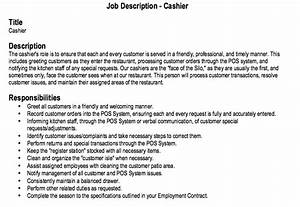 restaurant cashier job description resume http With cashier job description resume