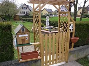 Portillon Bois Jardin : portillon de jardin en bois ~ Preciouscoupons.com Idées de Décoration