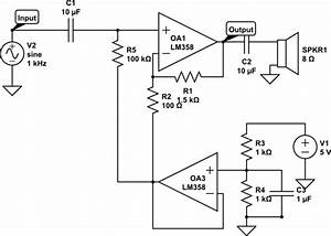op amp my simple audio amplifier circuit does not work With basic audio mixer using op amp