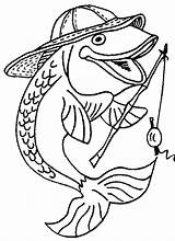 Fishing Pole Coloring Pages Getdrawings sketch template