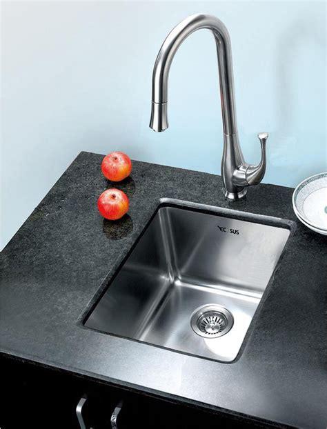 small undermount kitchen sink 15 quot ecosus stainless steel kitchen bar sink small radius