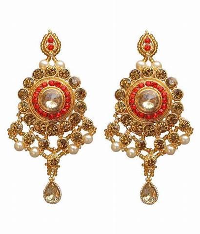 Jewellery Orange Designer Lucky Necklace Stone Gold