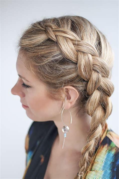 side braided ponytail  medium length hair fmagcom