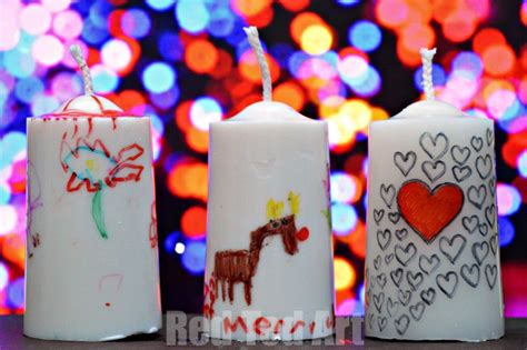 gifts kids can make decorated candles