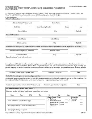 pa work permit form 2010 form ca cde b1 1 fill online printable fillable