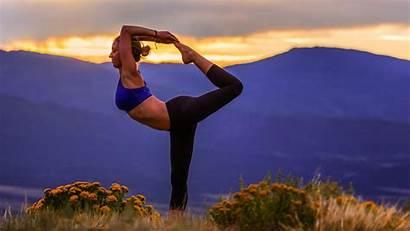Yoga Nature Pose Landscape Wallpapers Dog Sport