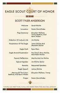 eagle scout court of honor invitations and program with With eagle scout program template