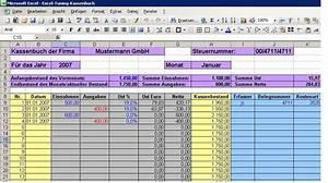 Commerzbank Rechnung Online : ein excel kassenbuch f hren excel tuning online ~ Themetempest.com Abrechnung