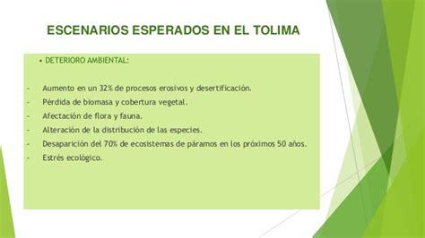Evidencias Del Cambio Climatico En El Tolima