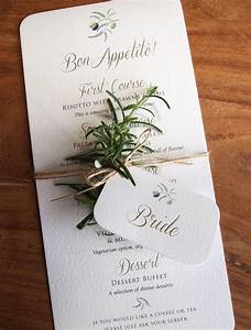 calligraphy menus for rustic outdoor or quirky weddings With wedding invitations business name ideas