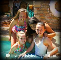 Tween Girl Swim Party Pool