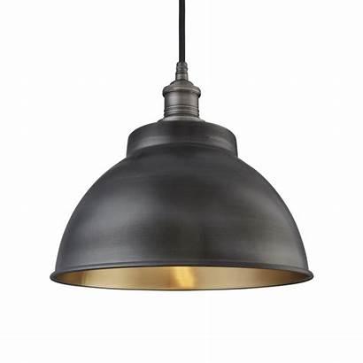 Lamp Grey Transparent Dome Brooklyn Pendant Industville