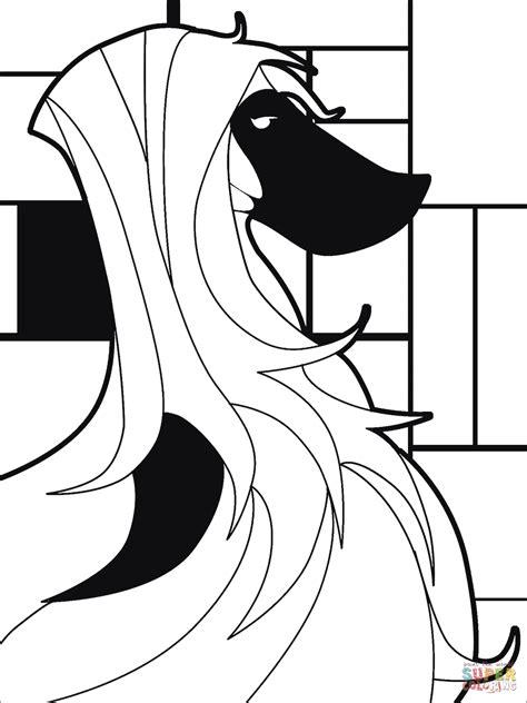 Pop Art Saluki Dog coloring page | Free Printable Coloring