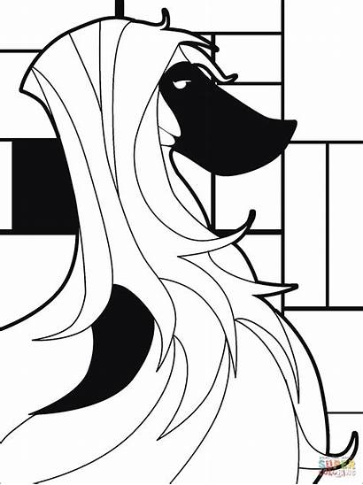 Coloring Pop Saluki Dog Pages Anime Moon