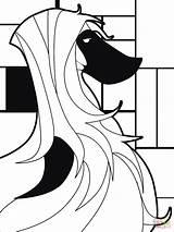 Coloring Pop Saluki Dog Printable Arts Drawing Creative Paper Culture Commons Games sketch template