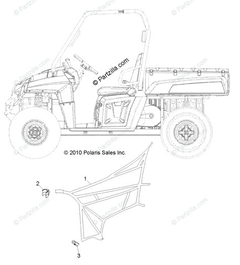 polaris side by side 2011 oem parts diagram for side nets all options partzilla com