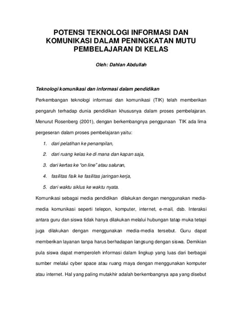 Contoh Jurnal Ilmiah Skripsi - Job Seeker