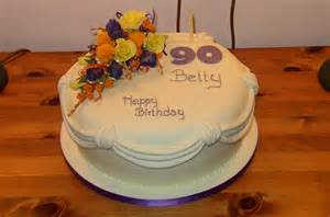 90th Birthday Cake with Flowers