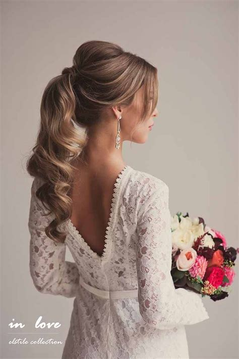 wedding hairstyles  long hair  stylish