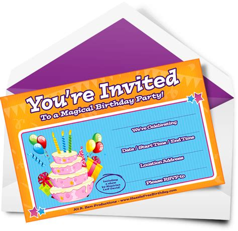 What Do I Need To Put On My Resume by Dynamic Birthday Invitations Part Show Part