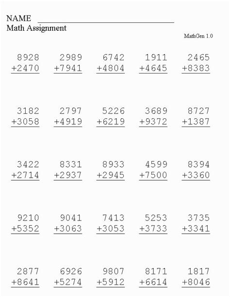 mathematics grade 4 worksheets pdf understanding place