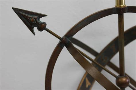 bronze astrological armillary table l frederick cooper