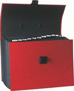 Trieur Papier Bureau : exacompta 55616e trieur extensible familial 12 compartiments coloris rouge fournitures ~ Teatrodelosmanantiales.com Idées de Décoration